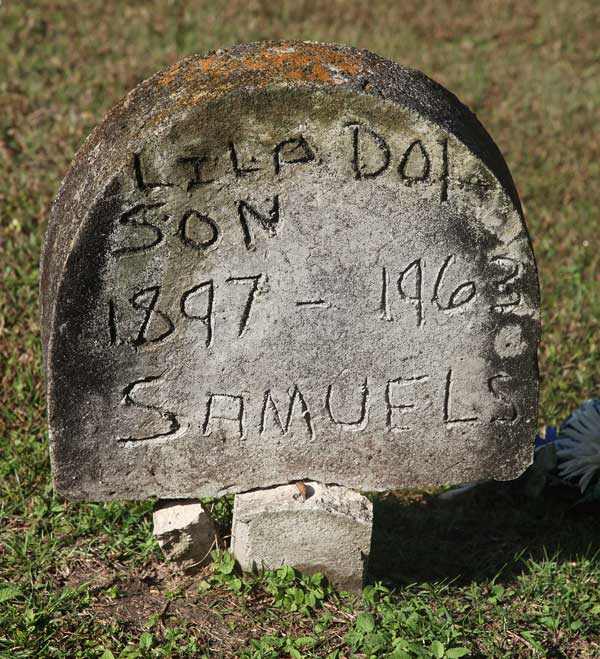 Lila Dot Son Samuels Gravestone Photo