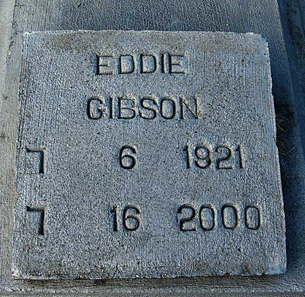 Eddie Gibson Gravestone Photo