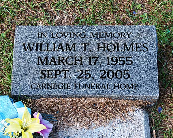 William T. Holmes Gravestone Photo