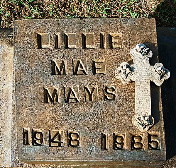 Lillie Mae Mays Gravestone Photo