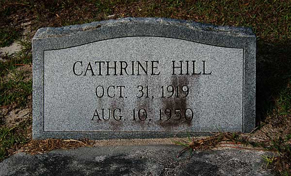 Cathrine Hill Gravestone Photo