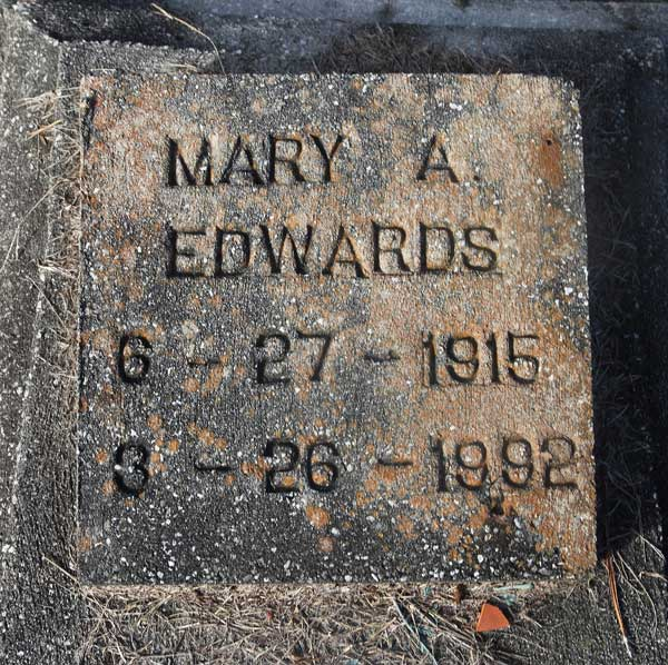 Mary A. Edwards Gravestone Photo