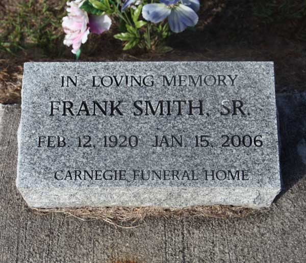 Frank Smith Gravestone Photo