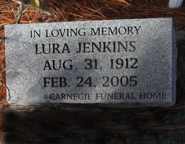Lura Jenkins Gravestone Photo