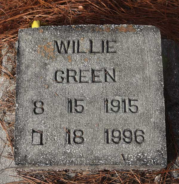 Willie Green Gravestone Photo