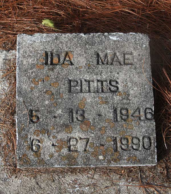 Ida Mae Pitts Gravestone Photo