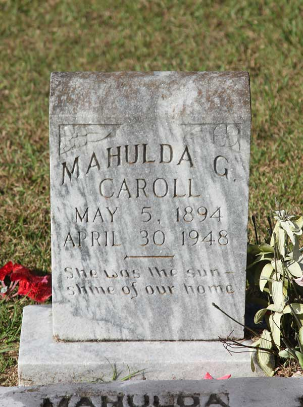 Mahulda G. Caroll Gravestone Photo