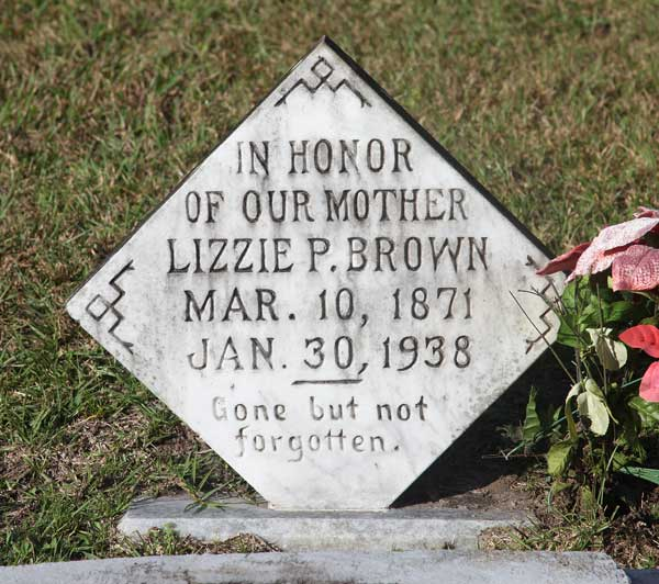 Lizzie P. Brown Gravestone Photo