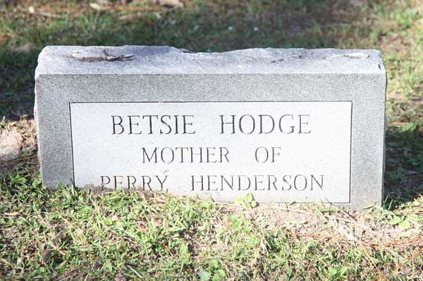 Betsie Hodge Gravestone Photo