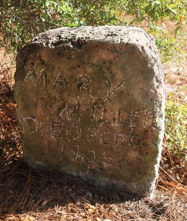 Mary Miller Gravestone Photo