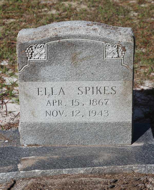 Ella Spikes Gravestone Photo