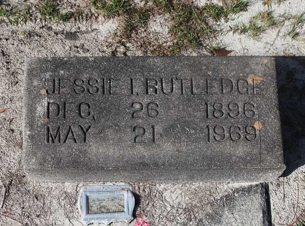 Jessie I. Rutledge Gravestone Photo