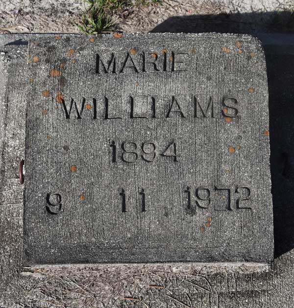 Marie Williams Gravestone Photo