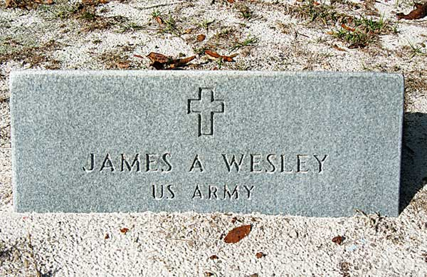 James A. Wesley Gravestone Photo