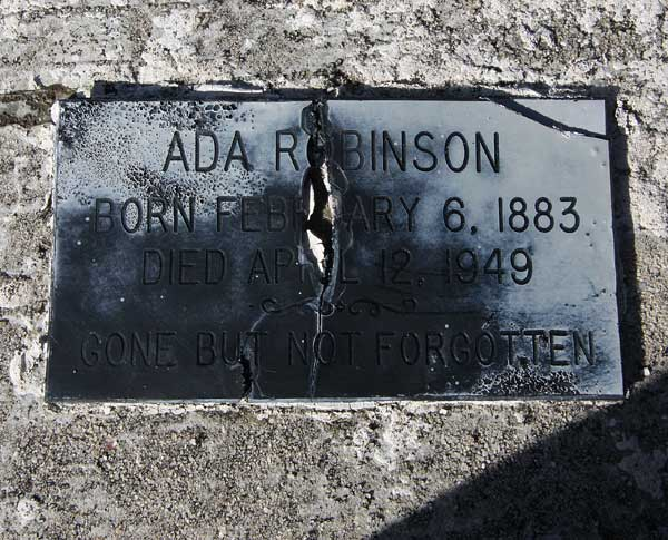 Ada Robinson Gravestone Photo
