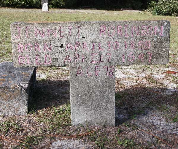 Jennett Robinson Gravestone Photo