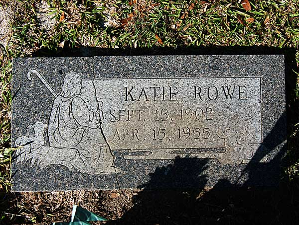 Katie Rowe Gravestone Photo