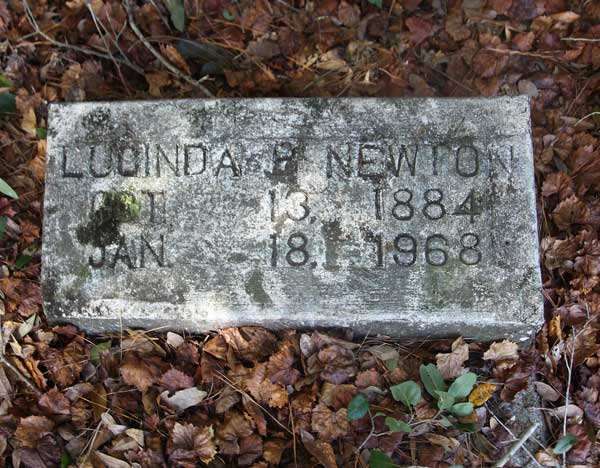 Lucinda B. Newton Gravestone Photo