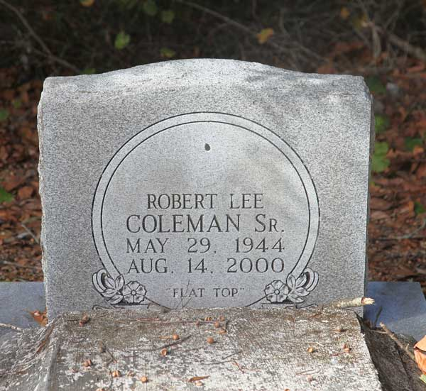 Robert Lee Coleman Gravestone Photo