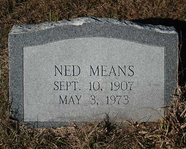 Ned Means Gravestone Photo