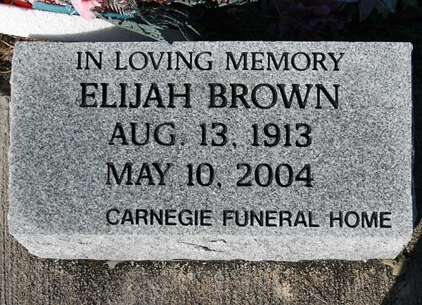 Elijah Brown Gravestone Photo