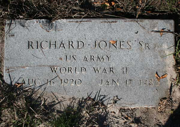Richard Jones Gravestone Photo