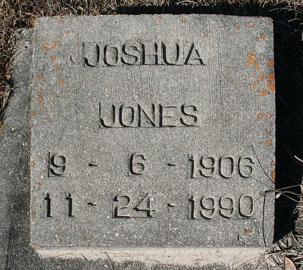 Joshua Jones Gravestone Photo