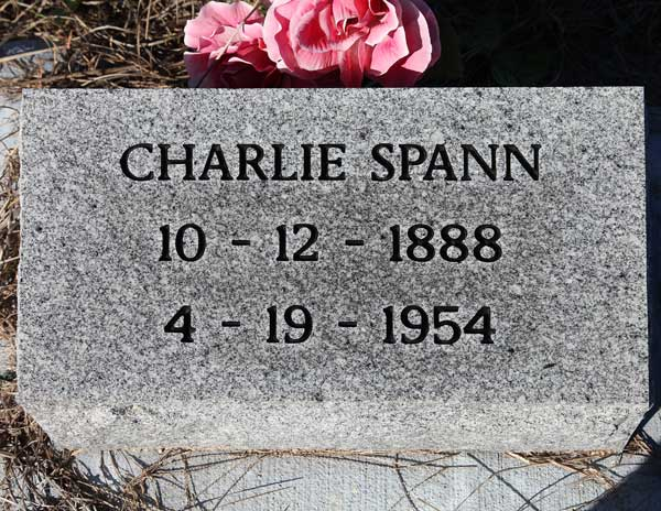 Charlie Spann Gravestone Photo
