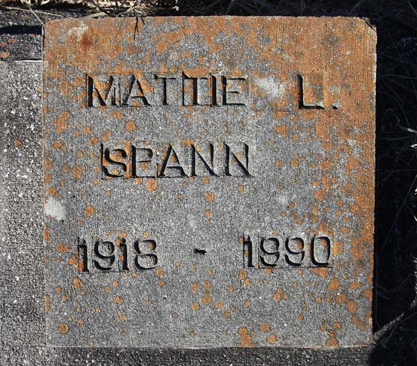 Mattie L. Spann Gravestone Photo