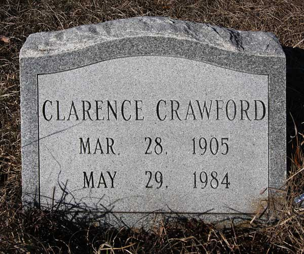 Clarence Crawford Gravestone Photo