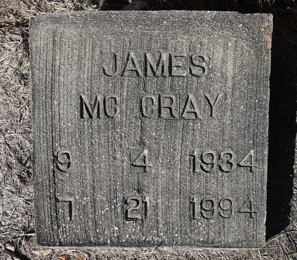 James McCray Gravestone Photo