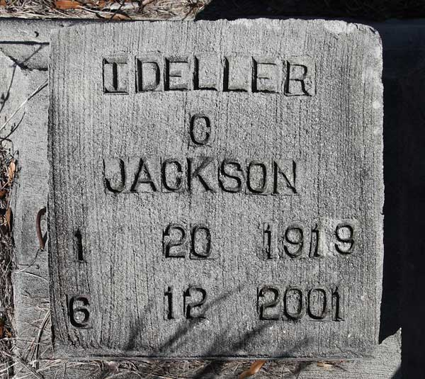 Ideller C. Jackson Gravestone Photo
