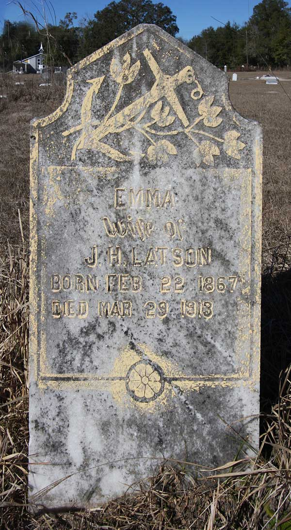 Emma Latson Gravestone Photo