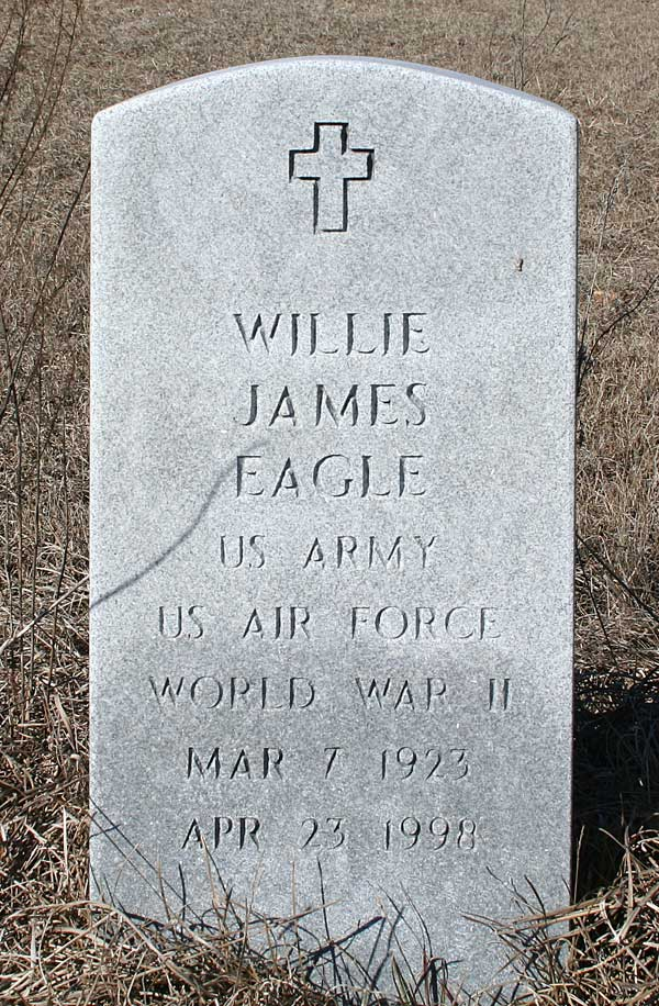 Willie James Eagle Gravestone Photo