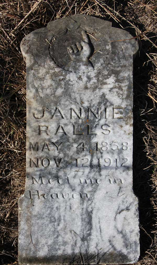 Jannie Ralls Gravestone Photo