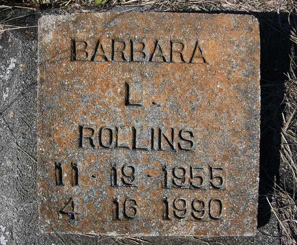 Barbara L. Rollins Gravestone Photo