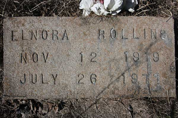 Elnora Rollins Gravestone Photo