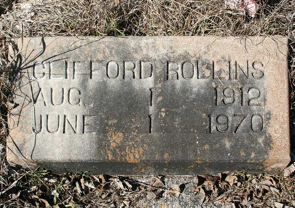 Clifford Rollins Gravestone Photo