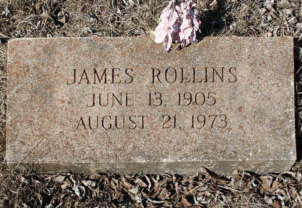 James Rollins Gravestone Photo