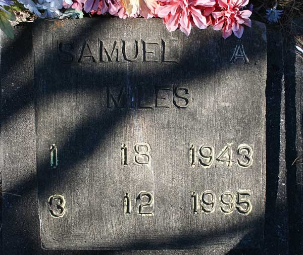 Samuel A. Miles Gravestone Photo