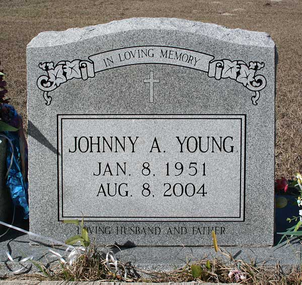 Johnny A. Young Gravestone Photo