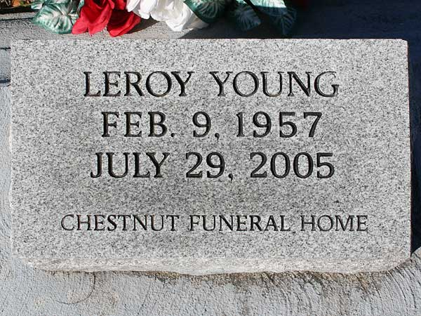 Leroy Young Gravestone Photo