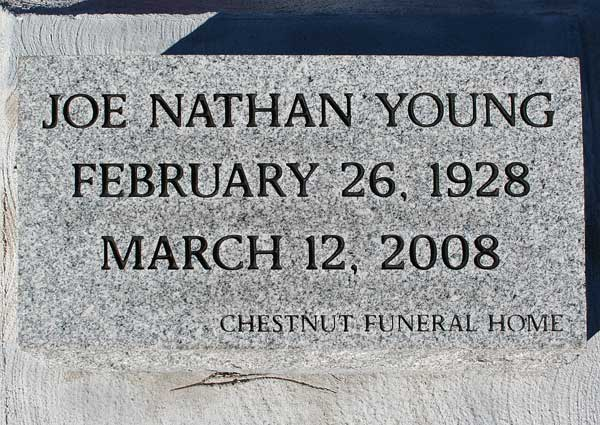 Joe Nathan Young Gravestone Photo