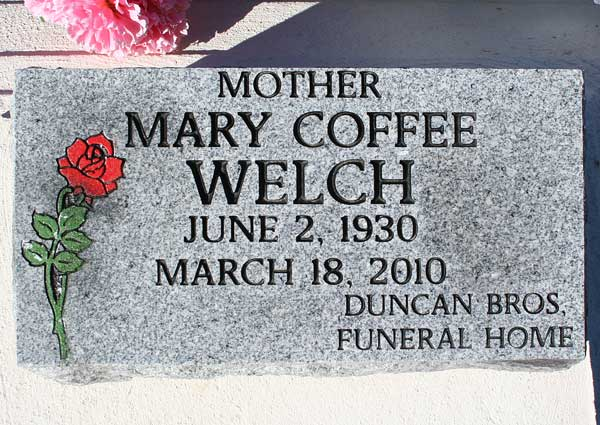 Mary Coffee Welch Gravestone Photo