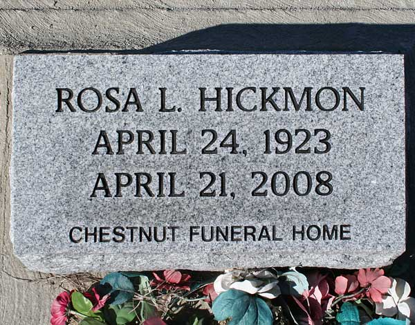 Rosa L. Hickmon Gravestone Photo
