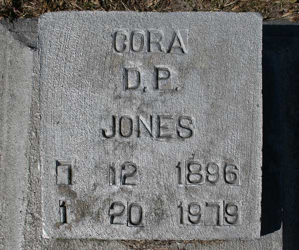Cora D.P. Jones Gravestone Photo