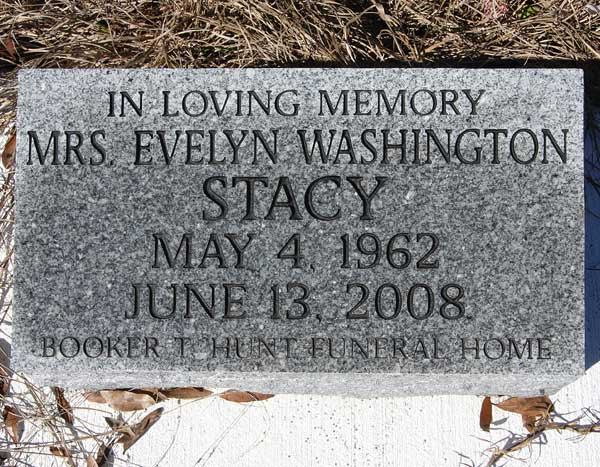 Evelyn Washington Stacy Gravestone Photo