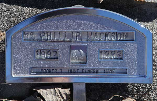 Phillip Jackson Gravestone Photo