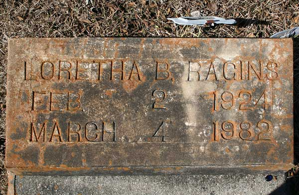 Loretha B. Racins Gravestone Photo