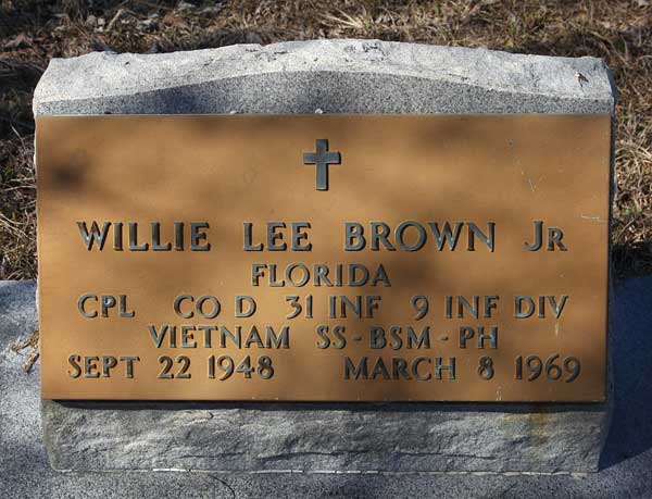 Willie Lee Brown Gravestone Photo